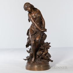 Mathurin Moreau (French, 1822-1912)       Bronze Depiction of L'Été