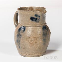 Miniature Cobalt-decorated Stoneware Jug