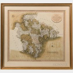 Cary, John (c. 1754-1835) A New Map of Devonshire Divided into Hundreds, Exhibiting Its Roads, Rivers, Parks, &c.