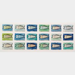 Eric E. Hopkins (American, 20th/21st Century)   Fish/A Series of Eighteen Images