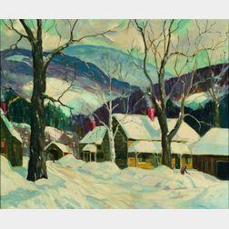 Helen Haye Brooks (American, 1915-1987)    New England Winter