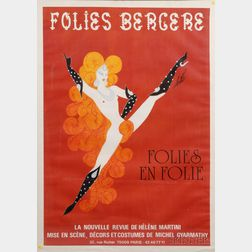After Erte [Romain de Tirtoff] (Russian, 1892-1990)      Folies Bergere: Folies en folie