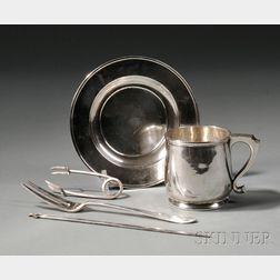 Five Pieces of Arts & Crafts Silver