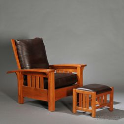 Stickley Morris Chair and Ottoman
