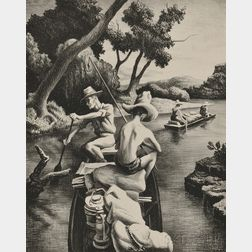 Thomas Hart Benton (American, 1889-1975)      Down the River