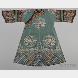 Lady's Embroidered Gauze Robe