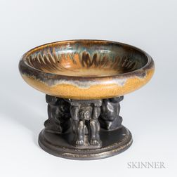 Fulper Pottery Effigy Compote