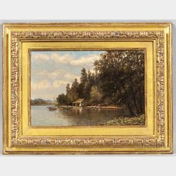 Charles B. Russ (Massachusetts, New Hampshire, 1825-1920)      Fishing Camp