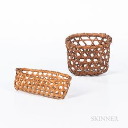 Two Miniature Splint Baskets