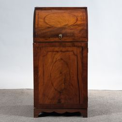 Regency Mahogany Inlaid Cylinder-top Standing Desk