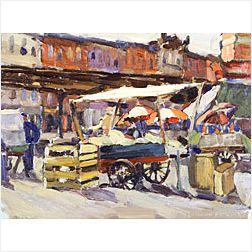 Edith Briscoe Stevens (American, 1896-1931)  The Marketplace