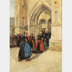 Jane Peterson (American, 1876-1965)      Church Procession in Brittany