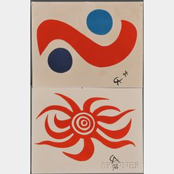 Alexander Calder (American, 1898-1976)      Two Prints from THE FLYING COLORS COLLECTION: Sky Bird