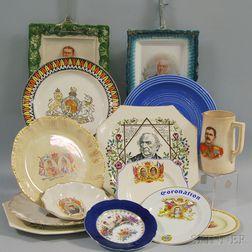 Fourteen Commemorative Ceramic Plates and Mug