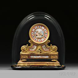 Gilt Bronze and Enamel Tambour No. 1 Mantel Clock