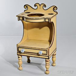 Paint-decorated Chamberstand