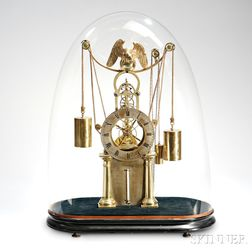 Simon Willard Jr. Brass Skeleton Clock