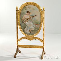 Louis XVI-style Giltwood Firescreen