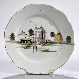 Tin-glazed Earthenware Manor   Deep Dish