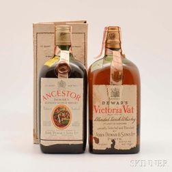 Mixed Dewars, 2 4/5 quart bottles (one with oc)