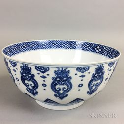 Blue and White Export Porcelain Bowl