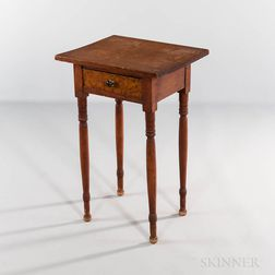 Mahogany One-drawer Worktable