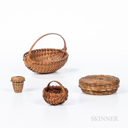 Four Miniature Baskets