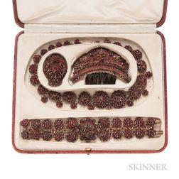 Antique Garnet Jewelry Suite