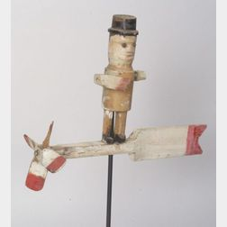 Carved and Painted Figural Whirligig