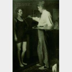 René Magritte (Belgian, 1898-1967)      Love