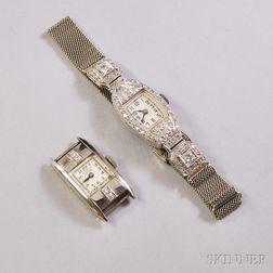 Two Diamond Lady's Wristwatches