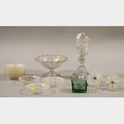 Seventeen Sandwich Glass and Flint Glass Items