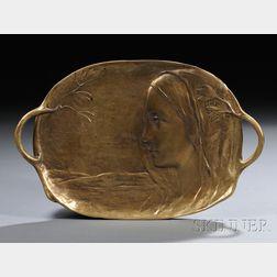 Peter or Paul Tereszczuk (Austrian, 1875-1963)       Art Nouveau Gilt-bronze Vide Poche