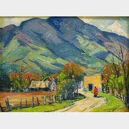 John F. Enser (American, 1898-1968)      Autumn Farm Road.