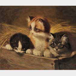 Sidney Lawrence Brackett (American, 1852-1910)      Three Little Kittens