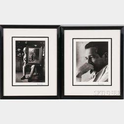 Roddy McDowall (English, 1928-1998)      Two Portraits: Buster Keaton