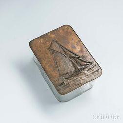Small Arts and Crafts Box with Sailing Yacht