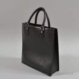 Louis Vuitton Black Leather Epi Plat Sac PM Tote Bag