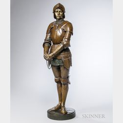 Louis Ernest Barrias (French, 1841-1905)       Bronze Figure of Joan of Arc
