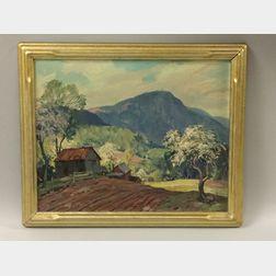 Leo B. Blake (American, 1887-1976)      Mount Greylock Landscape in Spring.