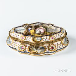 Hand-painted Sevres-style Porcelain Dresser Box