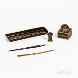 Five-piece Cloisonne Desk Set