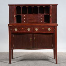 Federal Mahogany Inlaid Tambour Desk