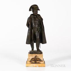 After Jean Jacques Pradier (Swiss, 1790-1852),   Bronze Figure of Napoleon
