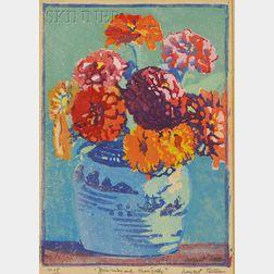 Margaret Jordan Patterson (American, 1867-1950)      Zinnias and Marigolds