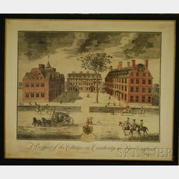 Framed Meriden Gravure Co. Hand-colored Collotype A Prospect of the Colleges