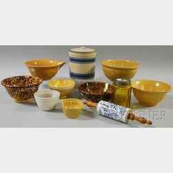 Group of Glass and Ceramic Kitchenware