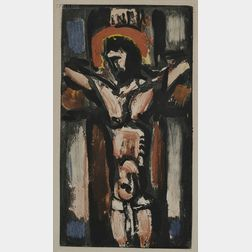 After Georges Rouault (French, 1871-1958)      Christ sur la Croix.