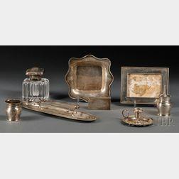 Ten-piece Gorham Sterling Silver Desk Set