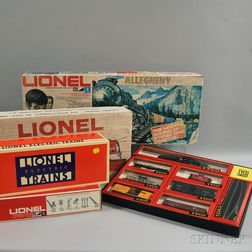 Four Small Lionel and Tyco Model Train Sets and Three Lionel O Gauge Model Train   Engines